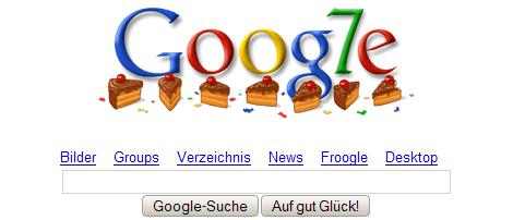 Google 7. Geburtstag