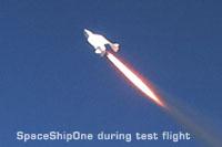SpaceShipOne during test flight