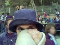 Frank beim Trinken