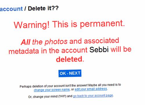flickr delete