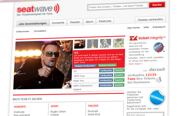 Seatwave Startseite