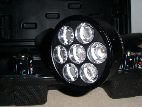 Kopf der Taschenlampe