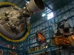 Eine der Stufen einer Saturn V und das Landemodul
